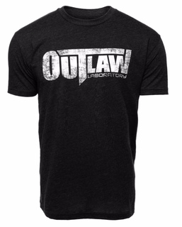 Outlaw Distressed Logo T-Shirt - black, Black Color