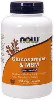 NOW Foods Glucosamine & MSM by NOW Foods, 180 Vegi Capsules