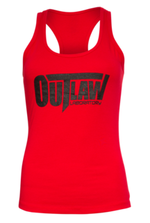 Outlaw Women's Racerback Tank - red