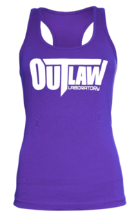 Outlaw Women's Racerback Tank - purple