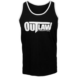 Outlaw Men's Tank Top - black / striped