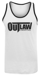 Outlaw Men's Tank Top - white / striped