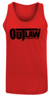 Outlaw Men Tank Top, red, Red Color