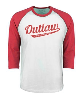 Outlaw Men's Baseball shirt - red, Red Color