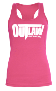 Outlaw Women's Racerback Tank - pink, Pink Color