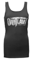 Distressed Logo Women's Tank - black