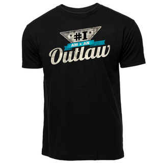 Men's #IamAnOutlaw T-Shirt - black, Black Color