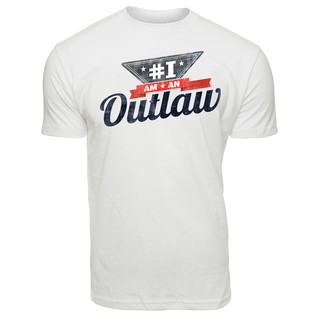 Men's #IamAnOutlaw T-Shirt - white, White Color