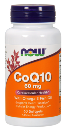 NOW Foods CoQ10 60 mg. with Omega-3