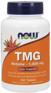 NOW Foods TMG (Trimethylglycine) 1000 mg. per tablet, 100 Tablets