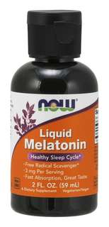 NOW Foods Liquid Melatonin 3 mg., 2 Fluid Ounces