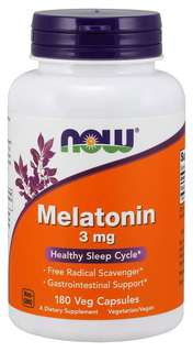NOW Foods Melatonin 3 mg., 180 Capsules