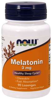 NOW Foods Melatonin 3 mg., 90 Chewable Lozenges